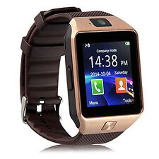 DZ09 Bluetooth Smart Wrist Watch SIM GSM Phone Mate For Android iOS iPhone Gold
