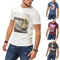 Jack & Jones Herren Kurzarmshirt T-Shirt Print Shirt Top Herrenshirt SALE %