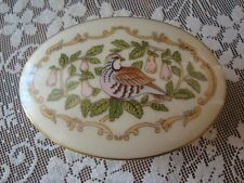 Lenox Partridge In A Pear Tree Porcelain Footed Trinket Box 12 Days Christmas