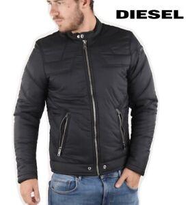 Diesel Men's Bomber Jacket W-Deacon Black Light Puffer Coat Winter RRP £199.99