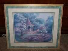 Home Interiors Victorian Gazebo Print Framed & Matted Under Glass