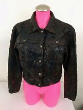 FUBU The Collection Women's Brown Shiny Snake Skin Patterned Blazer/Jacket 9/10