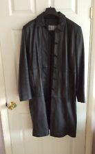 Ladies 100% Leather Full Length Coat Size 14