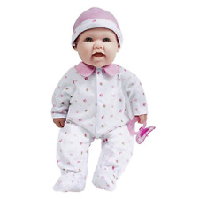 JC Toys, La Baby 16-inch Pink Washable Soft Baby Doll with Baby Doll Accessories