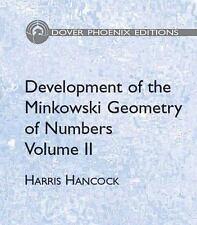 Development of the Minkowski Geometry of Numbers Vol. 2 Harris Hancock 2005 HC