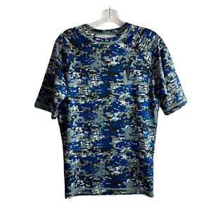 Titin Force Digital Camo Shirt L Large Blue (for use with Weighted Shirt System)