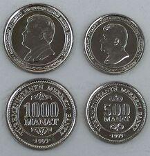 Turkmenistan 500 + 1000 Manat 1999 unz.