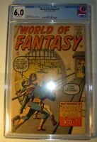 World of Fantasy #16 CGC 6.0 FN 1959, Steve Ditko, Jack Kirby, Sinnott, art