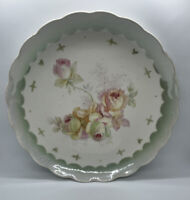 Lusterware Porcelain Roses Large Serving Plate 11""
