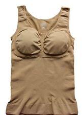 US Ladies Women Cami Shaper Built In Padded Bra Tank Top Slimming Camisole Vest
