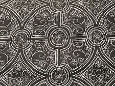 Fabric Medallions Damask Charleston Gray on Gray Cotton 1/4 Yard