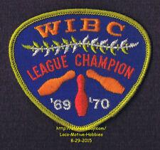 LMH PATCH Badge  1969 1970 WIBC LEAGUE CHAMPION Women's Bowling Award  USBC Bowl