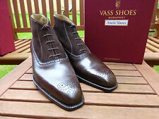 VT135 - Vass FRENCH OXFORD Boots EU 44 UK 10, US 11 - U Last - Brown Calf&Suede