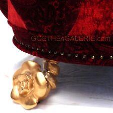 BRETZ Rosen 24ct vergoldete Füße Raritäten goldene Rosenfüße für Sofa od Stuhl
