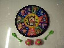 INDOOR SAFETY  CARTOON CHARACTER DART BOARD 20CM WITH DARTS  KIDS GAME TOY