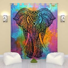 Indian Elephant Mandala Cotton Hippie Tapestry Door Curtain Decor Window Curtain