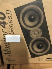 Polk Monitor 40 Series II Main Stereo Speaker - Black Pack of 2