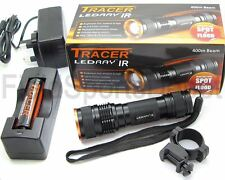 Tracer LEDRay IR NV 400M Illuminator Infrared + Battery Charger