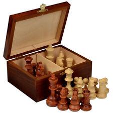 "Staunton No. 4 Tournament Chess Pieces in Wooden Box - 3"" King"