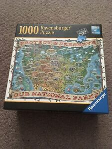 Used Ravensburger Protect & Preserve 1000 Piece Puzzle Our National Parks Travel