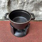 Staub .25Qt Mini Chocolate Fondue Cast Iron Black Pot Votive #1