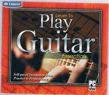 LEARN TO PLAY GUITAR ESSENTIALS (2008) PC CD-ROM NEW & FACTORY SEALED