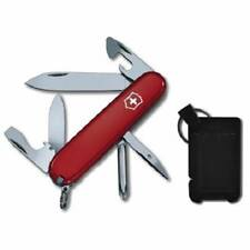 Victorinox Swiss Army Red Tinker Knife and Pocket Sharpener Set Red Handle 59112