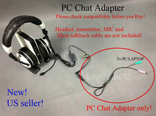 Xbox to PC Chat Adapter/Converter fr Turtle Beach X42 X41 X32 X31 PX5 .. headset