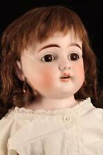 "Rare 24"" Antique German Bisque Heubach Koppelsdorf Doll DEP 1900 w/ Pierced Ears"