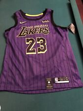 Nike LeBron James Los Angeles Lakers City Edition Authentic Jersey 52 ExtraLarge
