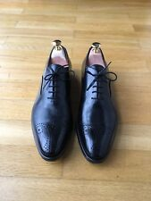 96ca09a38b36bd Franceschetti  Schwarze Wholecut Half Brogue Business-Herrenschuhe - Gr.  41