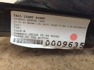 Hyundai Lantra J2 GL Tail Light Right 1996