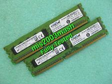Crucial 16GB 2x 8GB DDR3 1600 PC3-12800E ECC Unbuffered RAM Server Memory 3