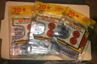 3- packs of 20 bags per pack E-Z Foil vtg Factory Sealed Sandwich Bags Made USA