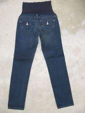 True Religion Pea in Pod Maternity Jeans Johnny Straight Leg Sz 28 Distressed