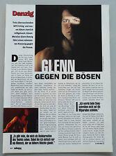 DANZIG  -  Clipping/Bericht aus dem Jahr 1994 - Musikzeitschrift