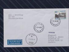 Brief 1976 Erstflug Stockholm - Wien