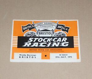 1975 Bristol Brisca F1 stock cars & Bangers programme, 27 July