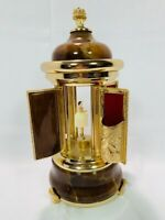 Vintage Reuge Carousel Music Box Lipstick , Plays Edelweiss, made in Italy