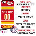 KANSAS CITY CHIEFS FOOTBALL PHONE CASE COVER For iPHONE SAMSUNG etc NAME / #