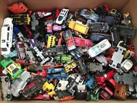 Lot Of 50 Mixed Die Cast Cars, Hot Wheels, Matchbox, Etc.