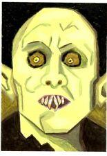 New Listing Original Aceo Painting Barlow Salem's Lot Vampire Halloween Acrylic Portrait