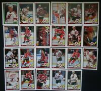 1991-92 Topps New Jersey Devils Team Set of 23 Hockey Cards