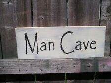 FUN MAN CAVE  HAND PAINTED WOOD SIGN CUSTOMIZE COLORS Shabby RUSTIC