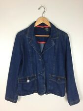 Vintage 90s Bill Blass Jean Jacket, Size PM