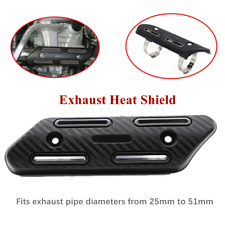 1*Universal Motorcycle Exhaust Muffler Pipe Heat Shield Ankle Guard For 4 Stroke