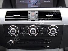 Fits BMW E60 E61 2003-2010 CHROME A/C HEATER Rings Matt Aluminium Surrounds