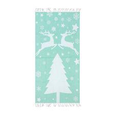 Deer Beach Towel - 100% Cotton 39 x 70 Mint Green Soft Lightweight Bath Towel