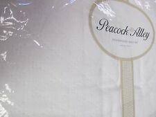 PEACOCK ALLEY Egyptian Cotton White Diamond Quilt Coverlet Set - Queen