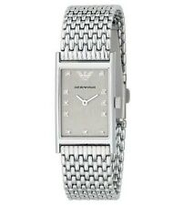 RARE Ladies Emporio Armani Diamond Hour Marker Watch & Mesh Steel Band AR3112